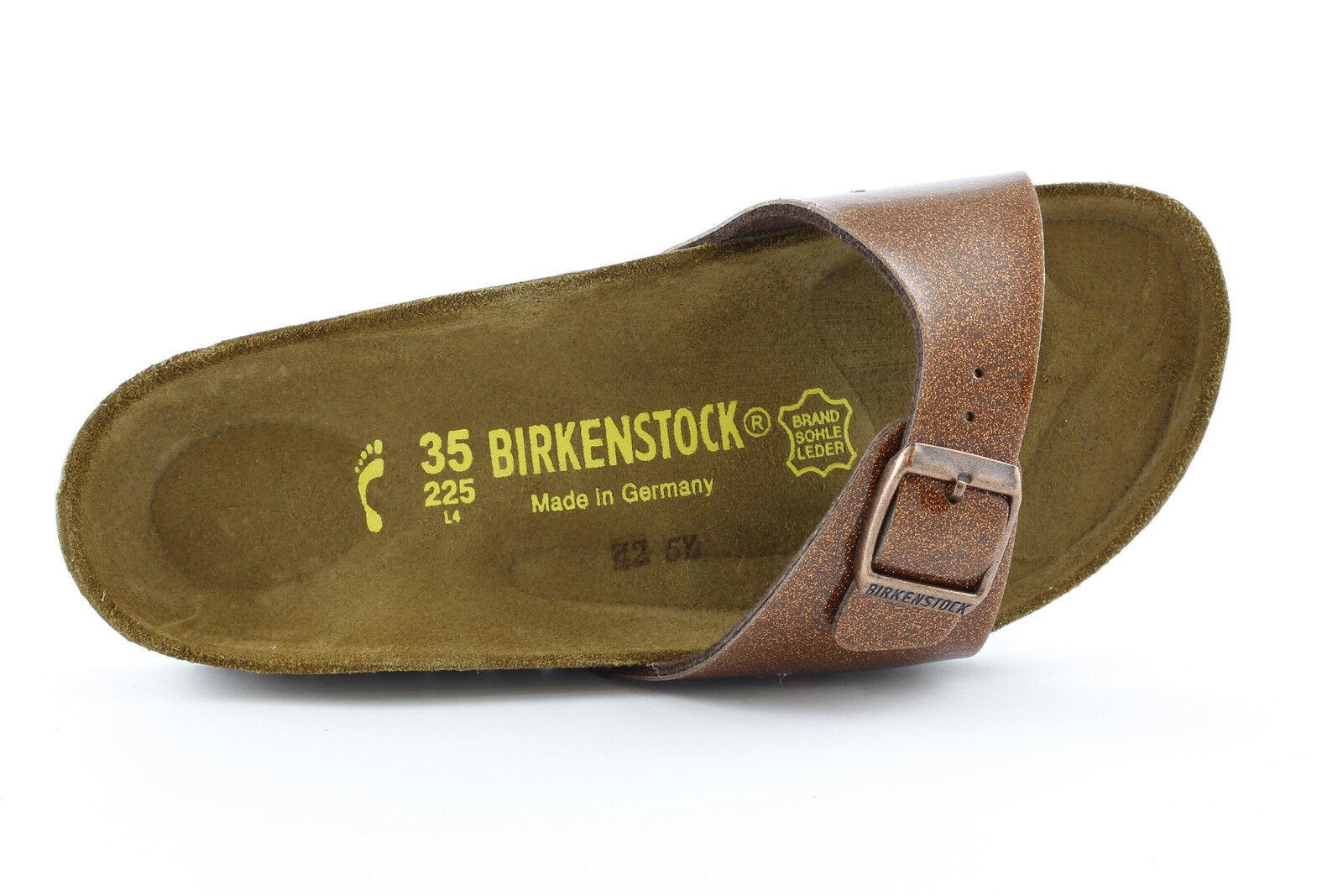 Ciabatta bronzo fascia casual Birkenstock Madrid pelle EVA mare casual fascia moda b12b7a