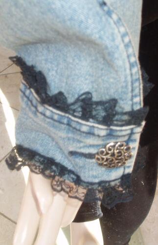 Jean Dejlig M 6 S S Blue Jacket Lace Sort Cache Light TzrYqT