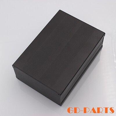 Full aluminum enclosure case Chassis Project box HIFI AMP DIY 106x55x155mm Black