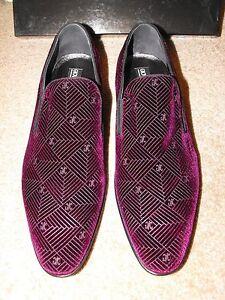 94a47e03561 BNIB  495 GIOVANNI CONTI ITALY Handmade Purple Velvet Loafers EU 44 ...