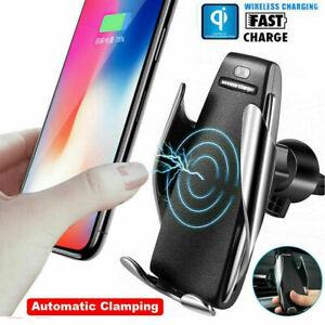 CARICABATTERIE PER AUTO WIRELESS SUPPORTO SMARTPHONE S5 CON SENSORE DI APERTURA