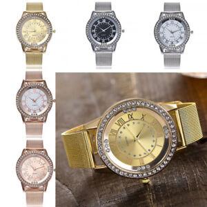 Casual-Quartz-Edelstahl-Band-marble-Armband-Uhr-Analog-Kleid-Armbanduhr