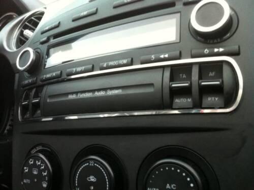 D Mazda MX 5 mx5 NC cromo marco para la radio-interruptor barra-acero inoxidable Pol