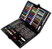 Darice 120-piece Art Set Coloring Drawing Paint Sketching Painting Supplies Kit