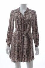 Diane Von Furstenberg Polly Python Print Silk Dress / Brown / RRP: £345.00