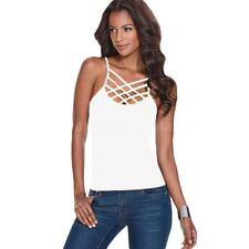 6ad655fedb3c56 item 3 S~3XL Womens Basic Strappy Criss Cross V-Neck Tank Top Caged Cutout  Cami E3Z8 -S~3XL Womens Basic Strappy Criss Cross V-Neck Tank Top Caged  Cutout ...