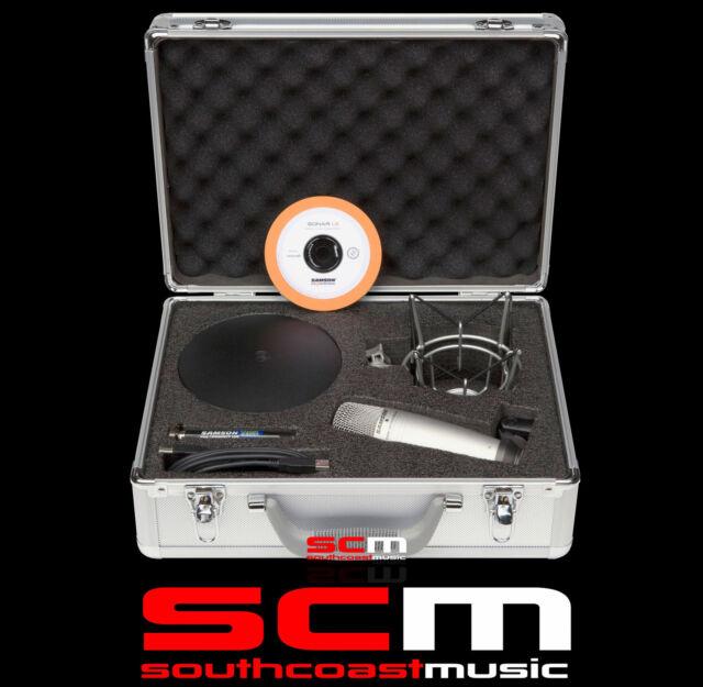 SAMSON C01U USB STUDIO MIC KIT MD5 STAND +SP01, SONAR SW & CARRY CASE MICROPHONE