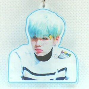 2 Suga Blue Hair Bts Bangtan Boys Acrylic Keychain Kpop Korean Pop