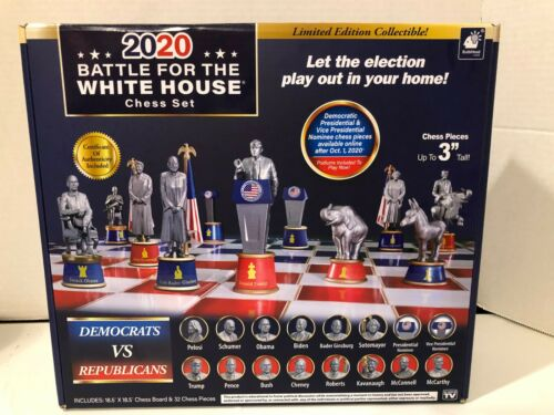 Chess Set 2020 Battle For The White House Democrats Republicans Trump Ginsburg