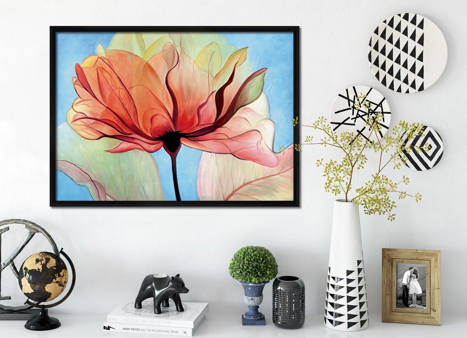 Cartel enmarcado 3D flores hermosas 2 Decoración del Hogar Pintura de Impresión Arte AJ Wallpaper