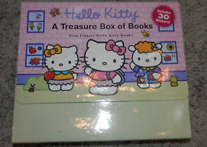 Hello Kitty Book Lot 5 Treasure Box Books Picture Case Hardcover Easy Reader