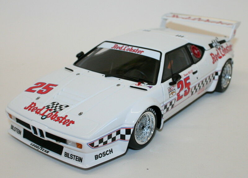 Minichamps  Scale 180 812925 BMW M1 Rojo Lobster LA Times Riverside 2018