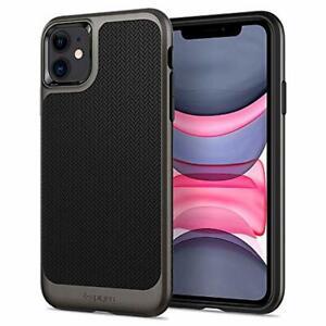 Spigen-Neo-Hybrid-Works-with-Apple-iPhone-11-Case-2019-Gunmetal