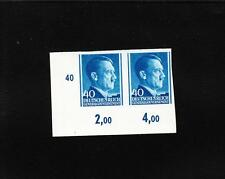 Nazi Germany General Government Poland Hitler Imperforate Pair # Selvage 40g A