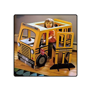 Kenyield-School-Bus-Play-Center-with-Table-amp-Chair-BRAND-NEW