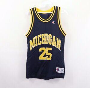 Vtg-90s-Champion-Mens-36-Fab-Five-Michigan-Wolverines-J-Howard-Basketball-Jersey