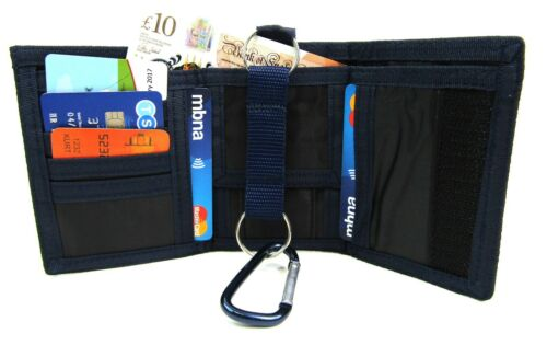 UNISEX CANVAS SPORTS WALLET CREDIT CARD HOLDER COIN POUCH PURSE BELT CLIP LOOP