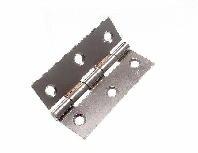Nuovo Cerniera (Cancello) CP Acciaio Cromato 75MM 7.6cm Viti Pacco (6 Pa