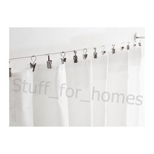 Extra Corner Fitting IKEA DIGNITET Curtain Wire /& RIKTIG Curtain Hook w// Clip