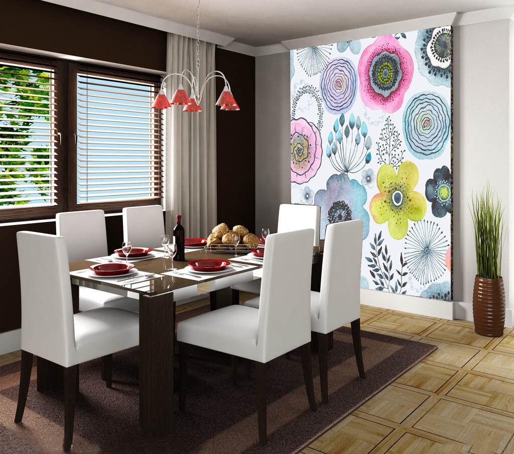 3D Farbeed Flowers78 Wallpaper Mural Paper Wall Print Wallpaper Murals UK Lemon