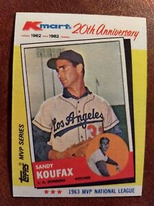 Details About 1982 Topps Kmart 20th Anniversary Baseball Card 4 Sandy Koufax