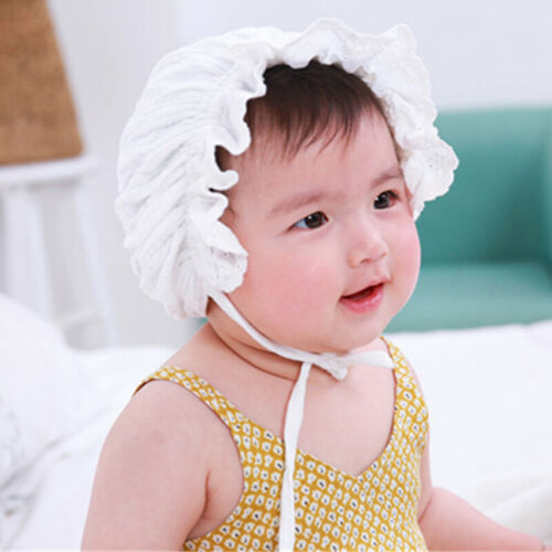 Newborn Mop Hat Kid Infant Baby Girl Lace Sun Bonnet Beanie Cap Hair Accessories