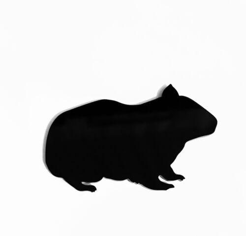 Guinea Pig Brooch Badge Pin Scarf Fastener Gift in Black