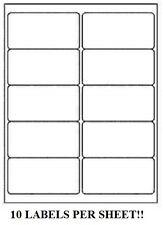 1000 Premium 2 X 4 Self Adhesive Address Labels 10 Per Sheet 10 Up