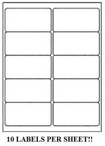 5000 premium 2 x 4 self adhesive address labels 10 per sheet 10