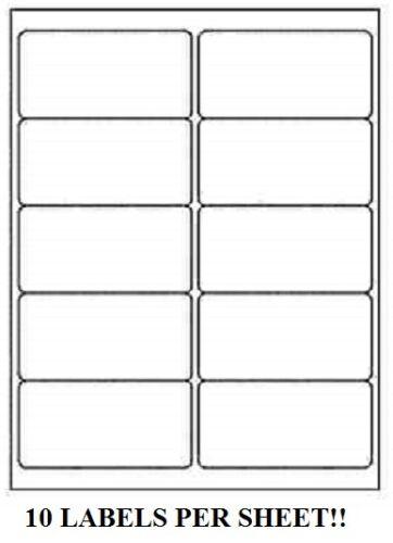 "5000 Premium 2/"" x 4/"" Self Adhesive Address Labels 10 per sheet 10 up*"