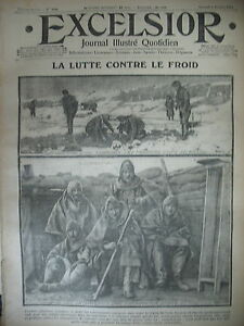 WW1-N-1544-FROID-DANS-LES-TRANCHeES-TROUPES-MONTENEGRO-JOURNAL-EXCELSIOR-1915