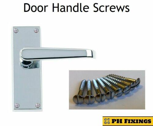 Internal Lever Door Handle Panel Screws Replacement Spares For Wooden Doors x8