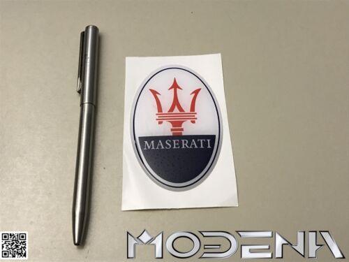 3D Resin Emblème Maserati Tridente Étiquette Écusson Logo Badge Autocollant 8 CM