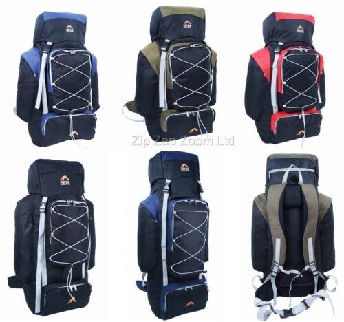 Grand sac à dos randonnée voyage camping sac à dos sac à dos rouge 80l 100L 125L