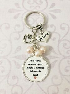 True-Friends-Gift-Present-Keyring-Bag-Charm-Beads-Special-Keepsake