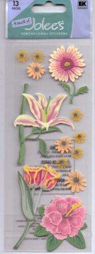 USEFUL!! Jolee/'s FLOWER themed embellishment stickers~BNIP~NICE