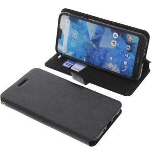 Custodia-per-Nokia-7-1-Book-Style-Protettiva-Cellulare-a-Libro-Nero