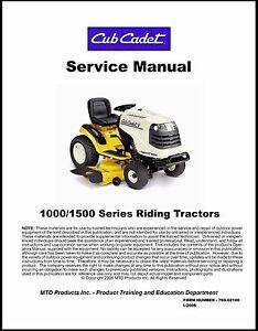 cub cadet 1000 1500 series service manual ebay rh ebay com cub cadet 1500 owners manual cub cadet 1500 owners manual