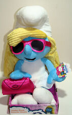 "SMURFETTE Chic SMURF 22"" Jumbo Plush Stuffed Doll w/ Glasses & Clutch purse NEW"