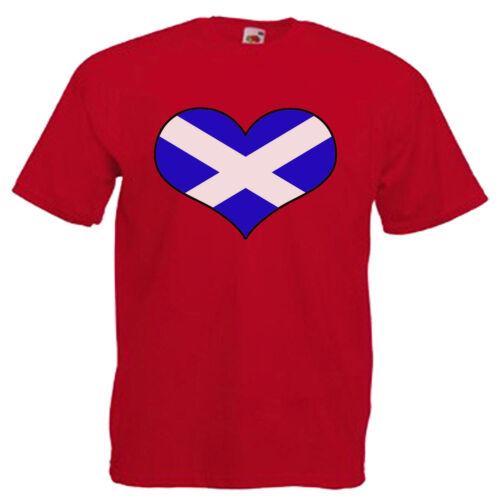 Escocia Escocés Bandera De Amor Para Niños Niños Niños T Shirt