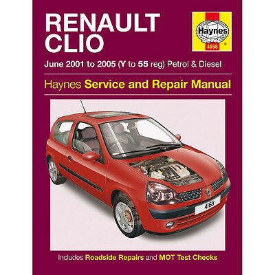 Renault Clio Haynes Manual 2001-05 1.2 1.4 1.6 Petrol 1.5 TD Workshop Manual