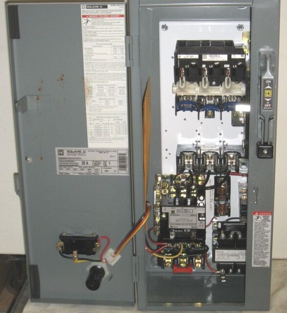 Square D AC Combination Motor Starter 30 Amp 3 Phase Cat ...