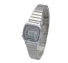 Casio La670wa-7d Ladies Silver Classic Stainless Steel Digital Watch Alarm Timer