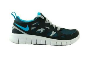 fc235f91bc42 Juniors NIKE FREE RUN 2 GS Blue Running Trainers 443742 040