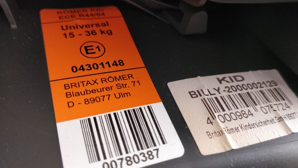 Autostol, op til 36 kg , Römer Römee Kid