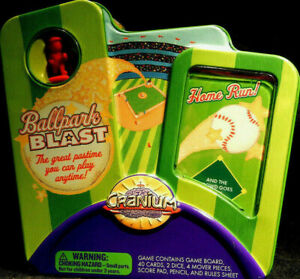 CRANIUM-Ballpark-Blast-Collectible-Tin-Play-Baseball-Home-Travel-Game-COMPLETE