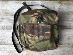 BRITISH-ARMY-RESPIRATOR-BAG-DPM-CAMO-Satchel-Grab-Shotgun-Haversack-S10-Gas-Mask