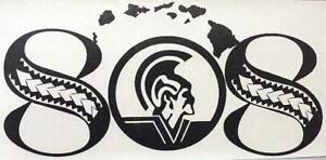 "9/"" WHITE ALOHA HIBISCUS HAWAIIAN ISLAND ~ Vinyl Car Truck Window Decal Sticker"