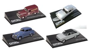 4 MODELLAUTOS Opel Olympia  1 43 AUTO DIECAST MODELLAUTO CAR