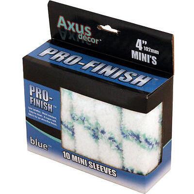 Axus Decor Pro-Finish Mini Roller Sleeve - Blue (Pack of 10)